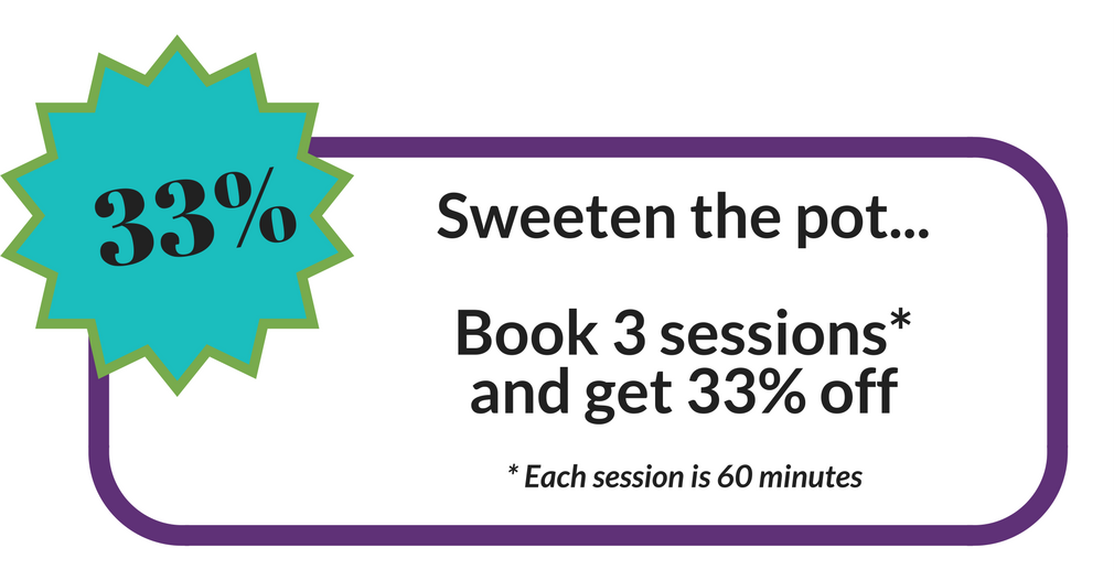 33% off when you book 3 Life Changes Coaching sessions