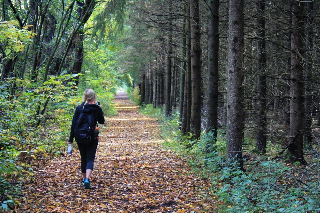 relieve stress with mindful yoga walking