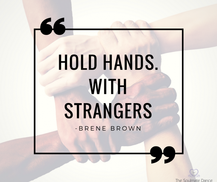 hold hands with strangers